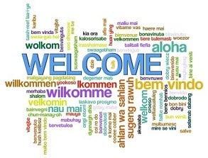Willkommen in internationalen Sprachen